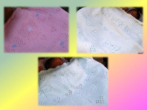 Bundle 3 Lacey Baby Blankets-Hand Knitting PDF Pattern | Crafting | Knitting | Other