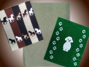 bundle 3 ponies doggy deer blankets-hand knitting pdf pattern
