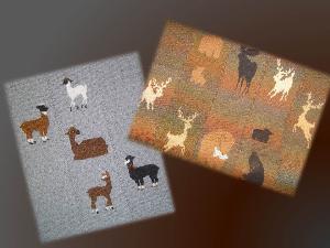 bundle 2 alpacas forest animals blankets-hand knitting pdf pattern