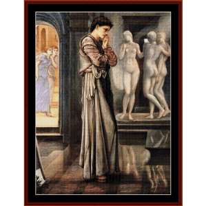 The Heart Desires - Burne-Jones cross stitch pattern by Cross Stitch Collectibles | Crafting | Cross-Stitch | Wall Hangings