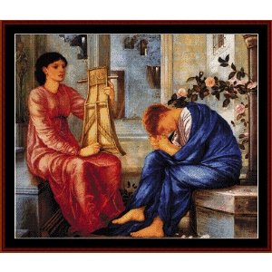 The Lament, 1866 - Burne-Jones cross stitch pattern by Cross Stitch Collectibles | Crafting | Cross-Stitch | Wall Hangings