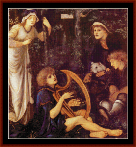 The Madness of Sir Tristam - Burne-Jones cross stitch pattern by Cross Stitch Collectibles | Crafting | Cross-Stitch | Wall Hangings