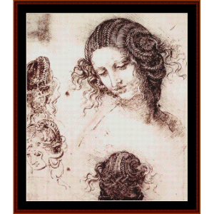 Head of Leda - Raphael cross stitch pattern by Cross Stitch Collectibles | Crafting | Cross-Stitch | Wall Hangings