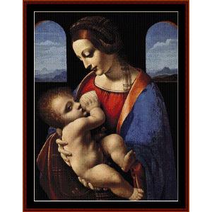 Madonna Litta - Raphael cross stitch pattern by Cross Stitch Collectibles | Crafting | Cross-Stitch | Wall Hangings