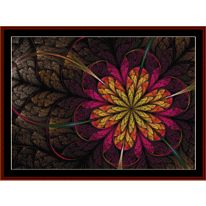 Fractal 567 cross stitch pattern by Cross Stitch Collectibles | Crafting | Cross-Stitch | Wall Hangings