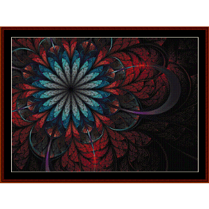 Fractal 569 cross stitch pattern by Cross Stitch Collectibles | Crafting | Cross-Stitch | Wall Hangings