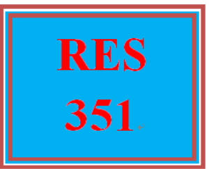 RES 351 Week 2 Quiz 1 | eBooks | Education