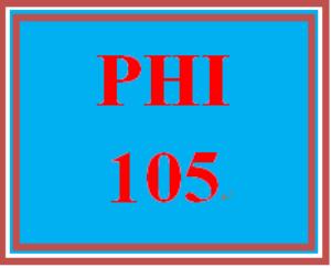 phi 105 week 1 open-book philosophy quiz