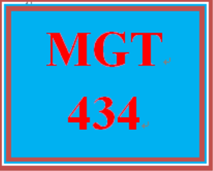 MGT 434 Week 5 Final Exam | eBooks | Education