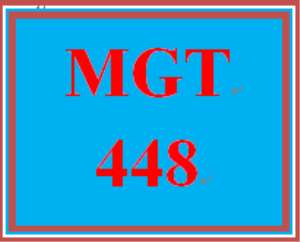 mgt 448 week 2 comprehensive analysis outline and presentation