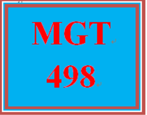 First Additional product image for - MGT 498 Entire Course