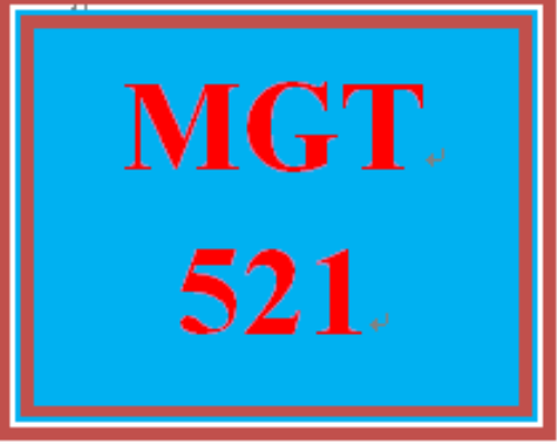 First Additional product image for - MGT 521 Entire Course