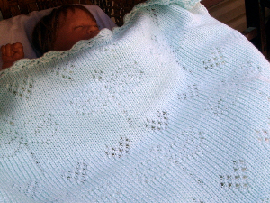 Lacey Dragonflies Baby Blanket-Machine Knitting PDF Pattern | Crafting | Knitting | Other