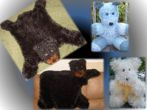 bundle 3 bears-machine knitting pdf pattern