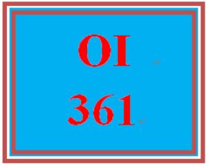 OI 361 Week 5 Organizational Transformation Q & A   eBooks   Education