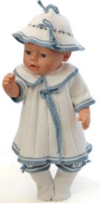 First Additional product image for - DollKnittingPatterns 0150D SOPHIA (Juni) - Genser, lue, bukse og sokker-(Norsk)