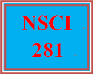 NSCI 281 Week 1 Week One Quiz | eBooks | Education