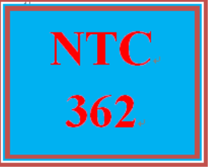 NTC 362 Week 4 Individual INDP Part 3 | eBooks | Education