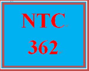 NTC 362 Week 4 Individual INDP Part 3 | eBooks | Education