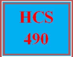 HCS 490 Week 2 Case Study Comparisons | eBooks | Education