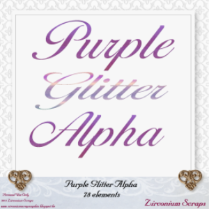 purple glitter alphabet
