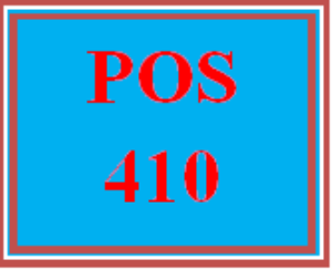 POS 410 Week 4 Lab Three | eBooks | Education