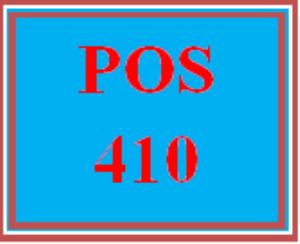 POS 410 Week 4 Lab Three | eBooks | Education