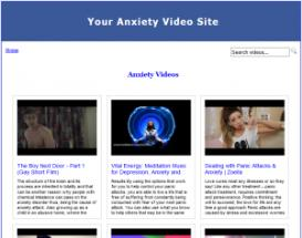 anxiety video site builder