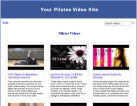 pilates video site builder