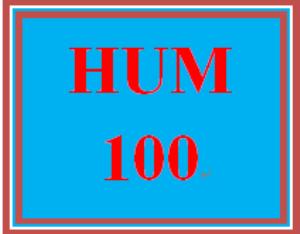 HUM 100 Entire Course | eBooks | Education