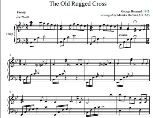 First Additional product image for - The Old Rugged Cross - Harp Solo