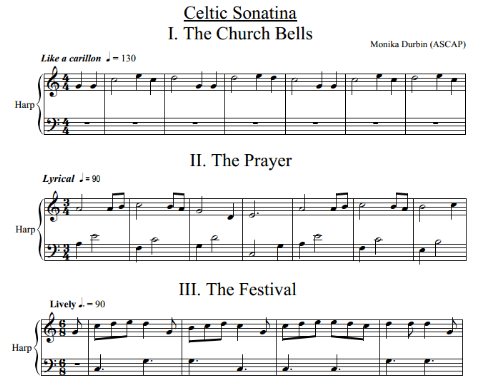 First Additional product image for - Celtic Sonatina for Solo Harp