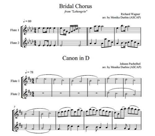 First Additional product image for - Wedding Music for Two Flutes