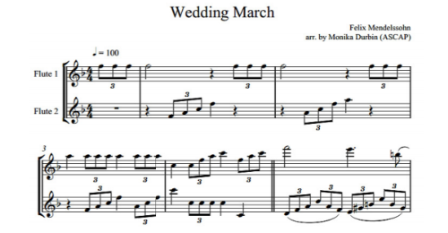 Second Additional product image for - Wedding Music for Two Flutes