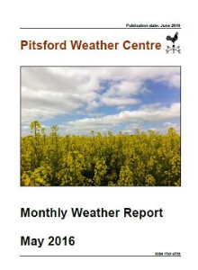 monthly weather report april 2016