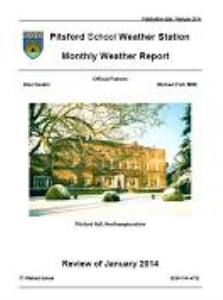 monthly weather reports 2014