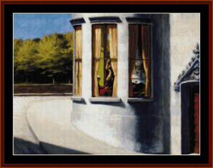 August in the City - Edward Hopper cross stitch pattern by Cross Stitch Collectibles | Crafting | Cross-Stitch | Wall Hangings