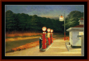 Gas - Edward Hopper cross stitch pattern by Cross Stitch Collectibles | Crafting | Cross-Stitch | Wall Hangings