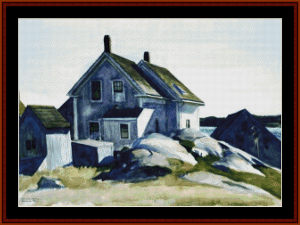 House at the Fprt. Gloucester - Hopper cross stitch pattern by Cross Stitch Collectibles | Crafting | Cross-Stitch | Wall Hangings