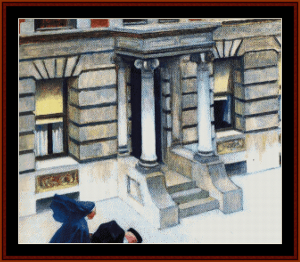 New York Pavement - Hopper cross stitch pattern by Cross Stitch Collectibles | Crafting | Cross-Stitch | Wall Hangings