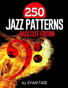 250 jazz patterns - bass clef
