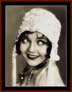 Flapper with Beaded Cap - Vintage Art cross stitch pattern by Cross Stitch Collectibles | Crafting | Cross-Stitch | Wall Hangings