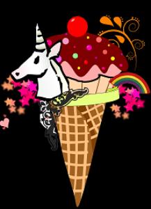 unicorn ice cream cone design
