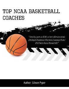 NCAA Top Basketball Coaches Playbook | eBooks | Sports