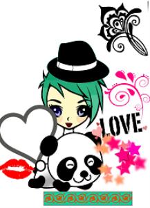 panda girl locker printable