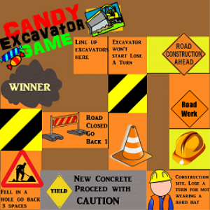 candy excavator game printable