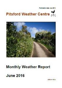 monthly weather report june 2016