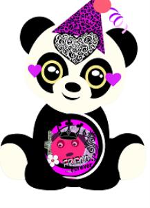 friends forever panda locker printable