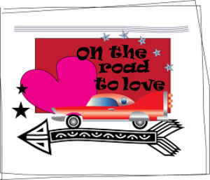 on the road to love printable love card/valentine