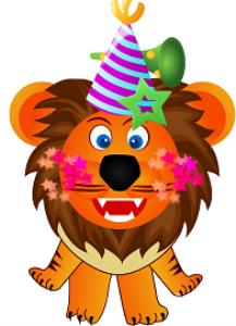lion printable birthday card/invitation